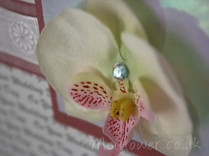 Fabric Orchid Head  Ideal For Wedding Cards, Birthday Cards, Anniversary Cards, Wedding Stationary, Making Corsages,