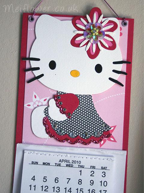 Hello kitty calender cute hello kitty wall hanging birthday cards hello kitty calender m4hsunfo