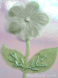 Cream organza flower