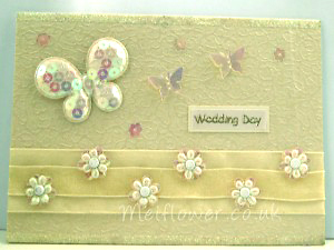 Wedding Invitation using fabric embellishments