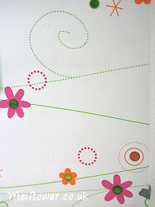 Stickers used for centre of flowery paper