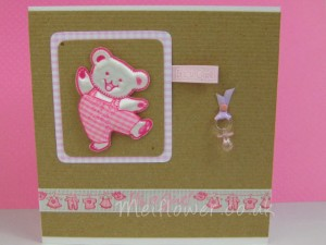 Its a Girl Card Using Pink Dancing Bear