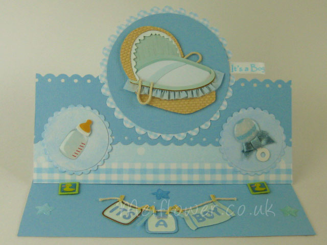 Lovely Card Making Ideas Baby Part - 12: Easal Style Baby Boy Card