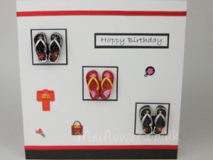 Happy Birthday Card Oriental Theme