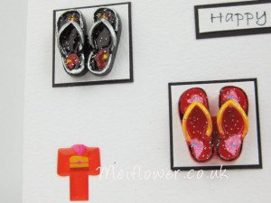 Red and Black Resin Shaped Flip Flop