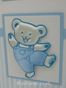 Dancing bear for baby cards