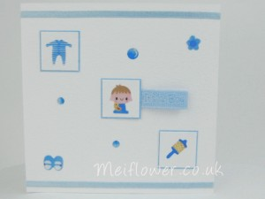 New arrival card for a baby boy