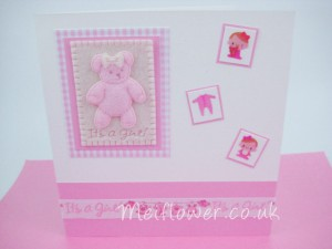 Cute handmade baby card for a new arrival