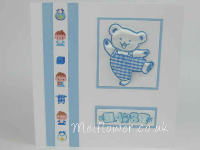 Hand made baby card for a baby boy