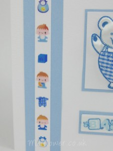 Baby stickers for a 'It's a boy' arrival card.