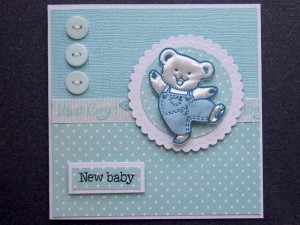 Baby card for new baby