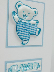 Cute dancing teddy in baby blue colours