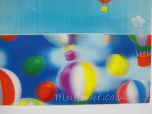 Childs birthday card with hot air balloons