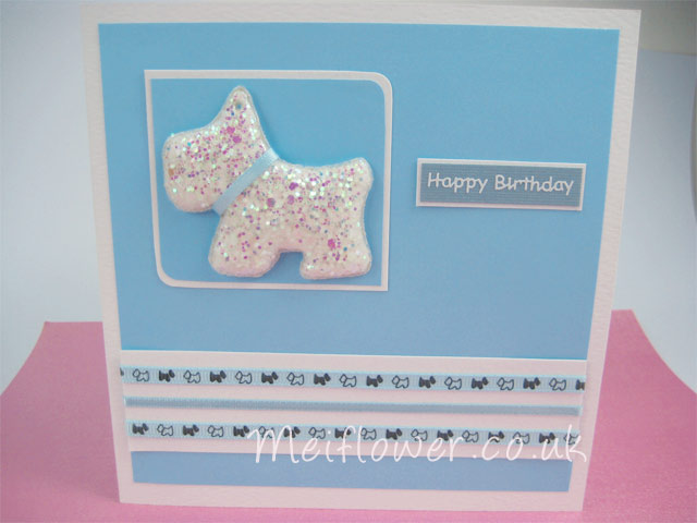 Handmade dog card for a dog or pet lover or owner