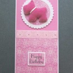 Pink and white themed Birthday card