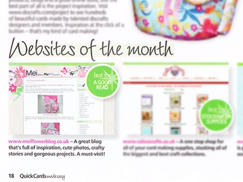 Awarded Website Of The Month Cardmaking