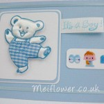 Cute baby card in baby blue colours