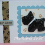 Black sparkly glitter dog for pet lover