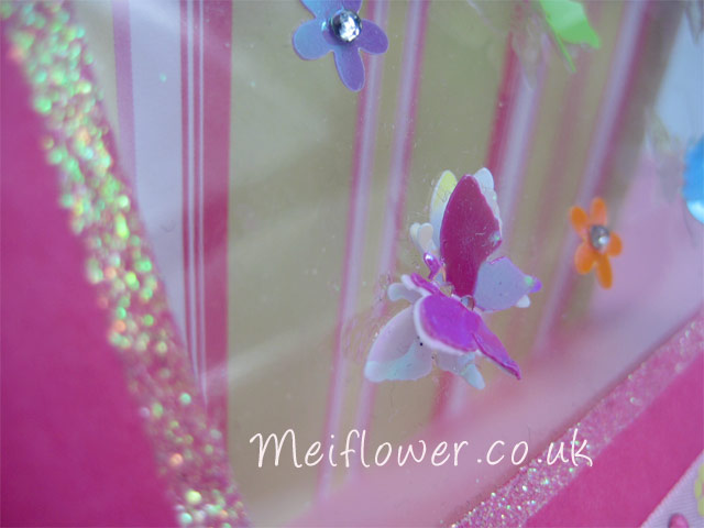 butterfly and flower sequins embellishments