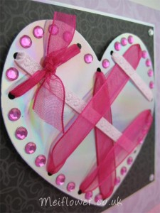 Pretty pink and silver love heart for your true love