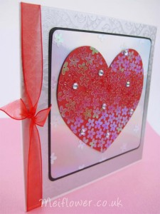 Romantic heart shaped die cut for true romance