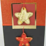 Oriental card with red and gold chinese traditional writing