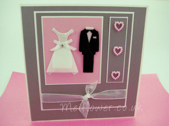 Handmade card ideal for wedding invitations, congratulations card, RSVP card, wedding menus