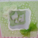 Cute sage green and white birthday card for a dog lover