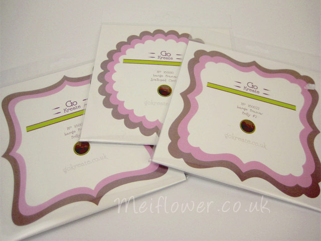 Card making die cuts for making shaped cards and toppers