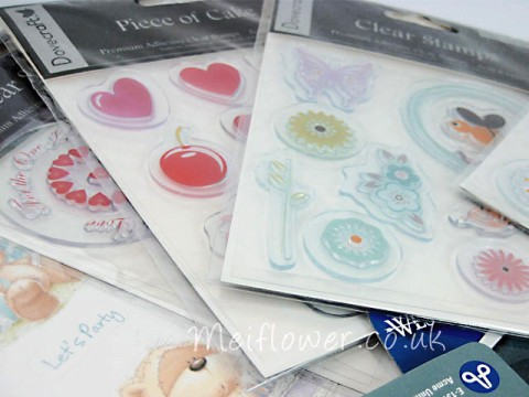 Set of acrylic self adhesive stamps from Dovecrafts