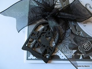 Black organza ribbon from Meiflower