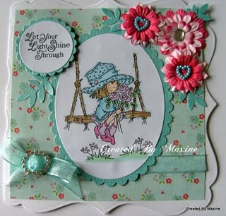Handmade Girlie Birthday Card