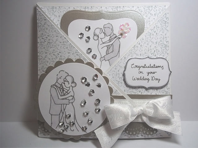 Envelope fold wedding card