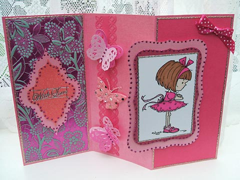 Cerise card by Sandra Baldwin