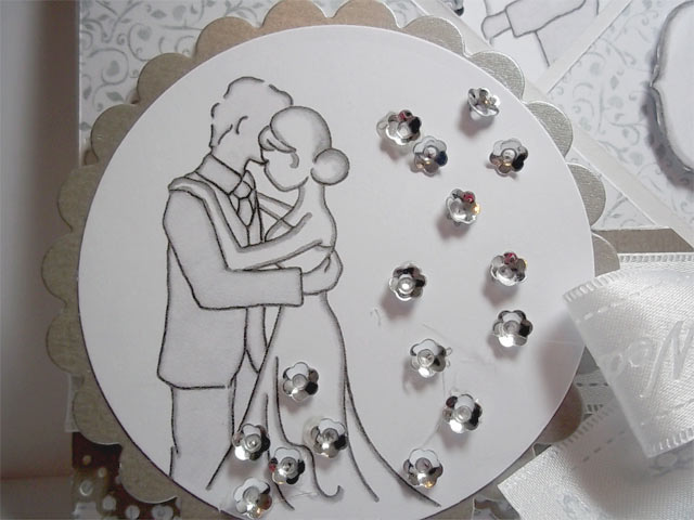 Silver and white themed wedding card for that special occasion