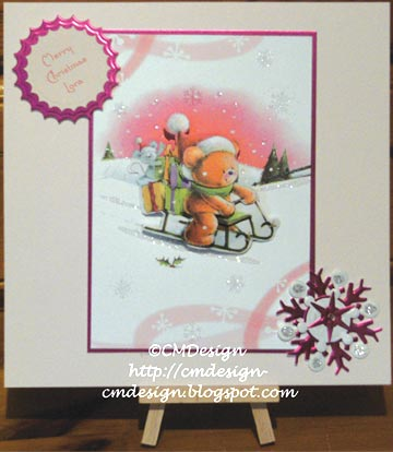 Carol Dunham's cerise themed Christmas card