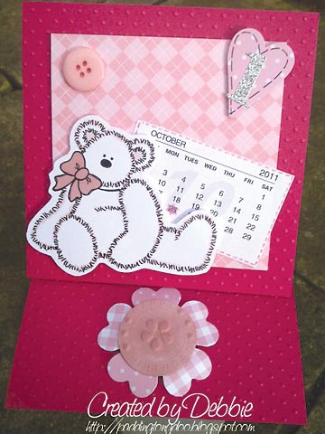 Cerise card by Debbie Dunn