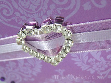 Diamante ribbon sliders