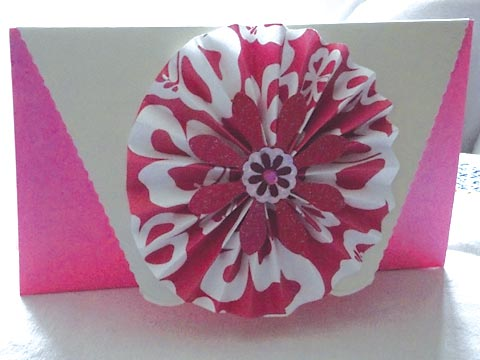 Front view of Linda's card