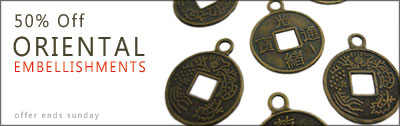 50% off Oriental Embelishments