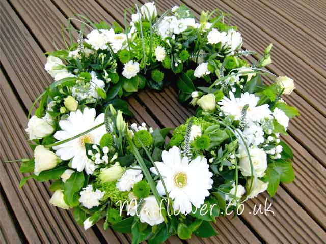 Modern sympathy wreath for funerals