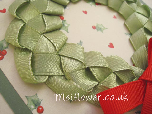 Close up of Ribbon Wreath Design