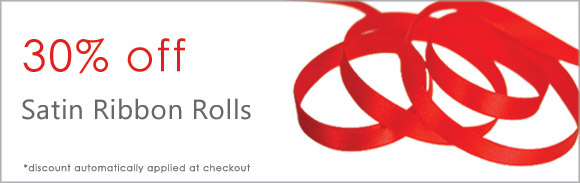 30% off Satin Ribbon Rolls
